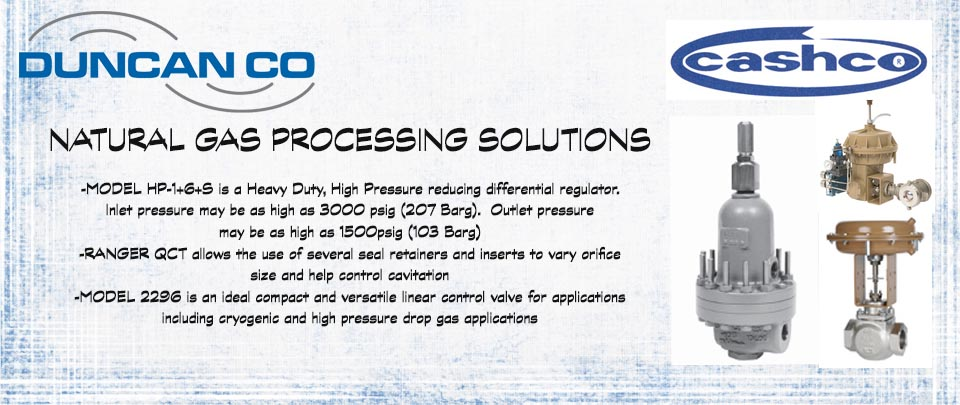 Natural Gas Processing Solutions with Cascho Control Valves