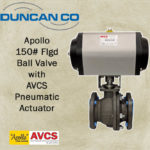APOLLO BALL VLV W AVCS PNEUMATIC ACTUATOR