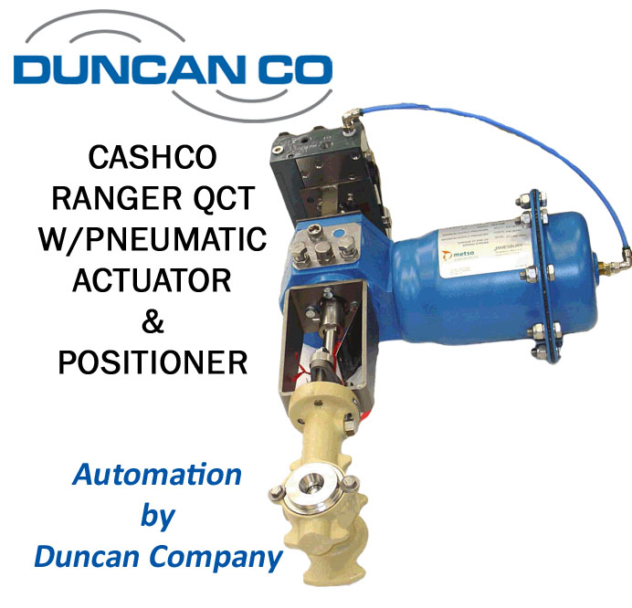 CASHCO QCT CONTROL VALVE FOR MORE INFORMATION CONTACT US AT WWW.DUNCANCO.COM