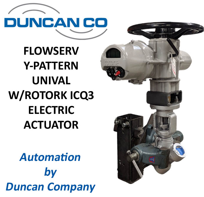 FLOWSERV-ROTORK ICQ3 ELECTRIC ACTUATOR FOR MORE INFORMATION CONTACT US AT WWW.DUNCANCO.COM