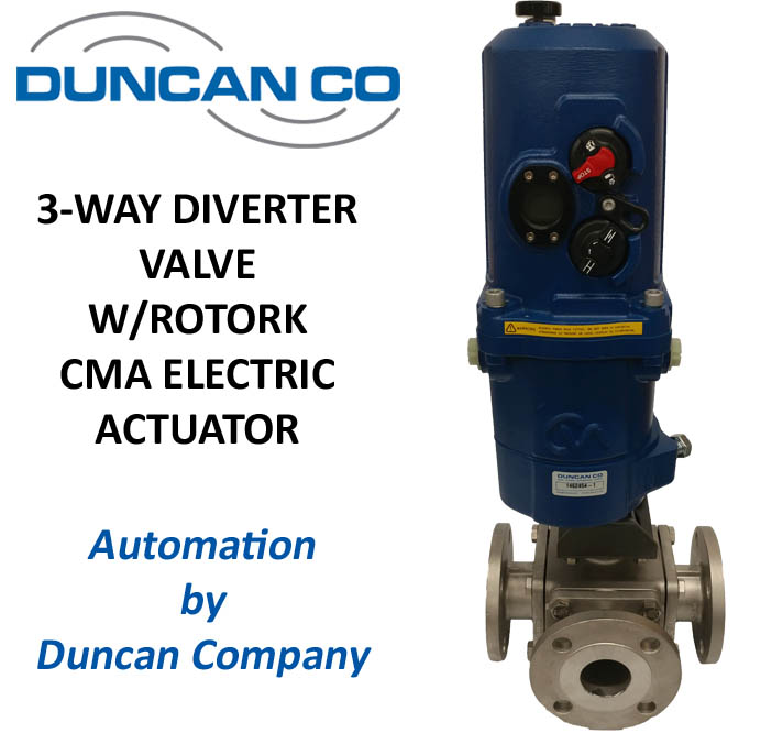 JFLOW DIVERTER VLV ROTORK CMA ELECTRIC ACTUATOR FOR MORE INFORMATION CONTACT US AT WWW.DUNCANCO.COM