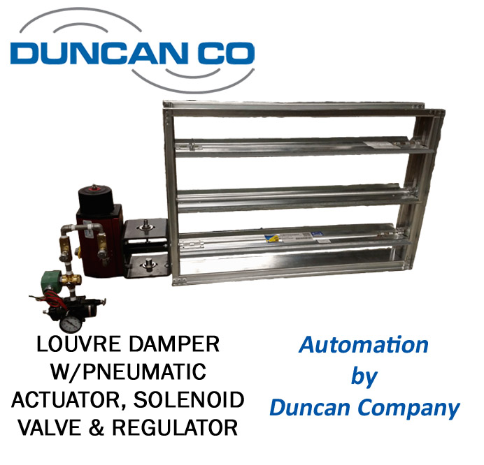 KELAIR LOUVRE DAMPER FOR MORE INFORMATION CONTACT US AT WWW.DUNCANCO.COM