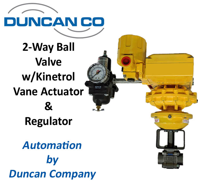 SHARPE VALVE KINETROL ACTUATOR FOR MORE INFORMATION CONTACT US AT WWW.DUNCANCO.COM