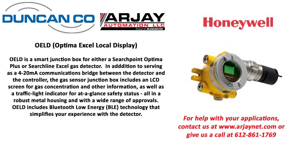 HONEYWELL OELD GAS DETECTION FOR MORE INFORMATION CONTACT US AT WWW.DUNCANCO.COM
