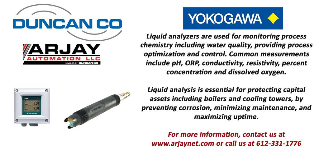 Yokogawa for more information contact us at www.arjaynet.com
